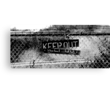 KEEP OUT  It Works Sometimes!  (panorama) Canvas Print