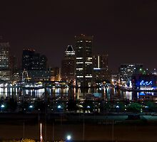 Baltimore Skyline @ Night by unflux