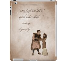 Mulan inspired valentine. iPad Case/Skin