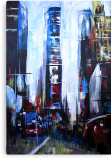 Times Square New York Abstract Realism by Samuel Durkin