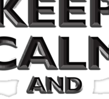 Keep Calm & Carry On, Be British! UK, Britain, (Chisel red) Sticker
