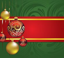 Red and Gold Christmas Balls 4 by AnnArtshock