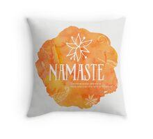 Namaste Mango color Throw Pillow