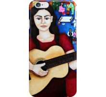 """Violeta Parra  and the song """"Black wedding"""" iPhone Case/Skin"""