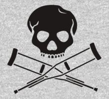 Skull with crutches. Kids Clothes