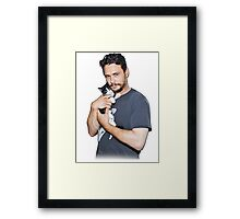 James Franco's Cat Framed Print