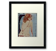 lost in a blue place Framed Print