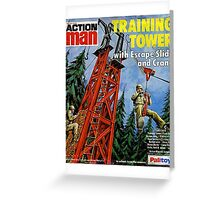 Action Man training tower Greeting Card