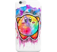 Cute Galaxy KIRBY - Watercolor Painting - Nintendo iPhone Case/Skin