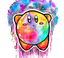 Cute Galaxy KIRBY - Watercolor Painting - Nintendo by Jonny2may