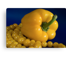 yellow paprika and beads Canvas Print