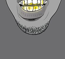Gold Grill by Deannatheartist