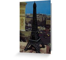 Soxy hired a helicopter in Paris, France Greeting Card