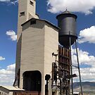 Coaling, Sand and Water Tower at the Nevada Northern by BodieBailey