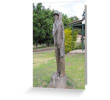Historic Wood Carving 'Imbil' country town, Queensland. Greeting Card