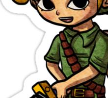 Toon Warrior Young Hero Sticker