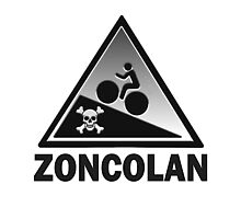 Monte Zoncolan Cycling Road Sign Gradient Shirt by movieshirtguy