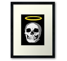 skull with halo Framed Print