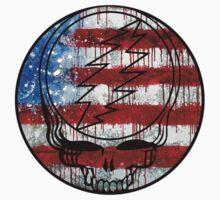 Grateful Dead Deadhead American Flag by Jason Levin