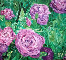 """""""Rothschild Roses"""" by Adela Camille Sutton"""