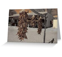 sepia peppers Greeting Card