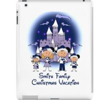 Choose your character Castle Family Blue Christmas Vacation ~ DO NOT PURCHASE THIS SAMPLE. SEE DESCRIPTION iPad Case/Skin