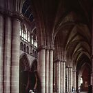 Marj in side aisle Carlisle Cathedral Cumbria England 198405250028  by Fred Mitchell