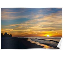 Winter Morning on the Gulf Poster