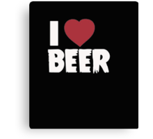 I Love Beer - T-Shirts & Hoodies Canvas Print