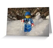 Out for a Ski! Greeting Card