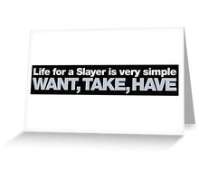 Buffy - Life for a Slayer Greeting Card