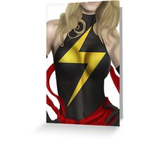 Ms. Marvel Greeting Card