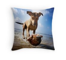 Isabella in her coconut levitation performance Throw Pillow