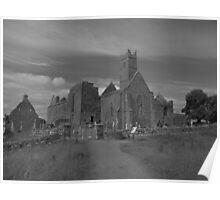 Quin abbey black and white Poster