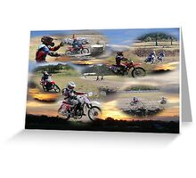 Dirt Track Boys at work or play !!! Greeting Card