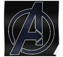 2D Simple Avengers Symbol Poster