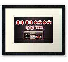 Nintendo, Konami Code , controller Framed Print
