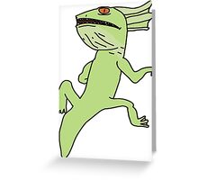 The Exposed Gecko Greeting Card