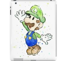 Luigi Watercolor iPad Case/Skin