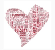 7 DAYS OF SUMMER- VALENTINES DAY -TEXT LOVE HEART by 7 days of Summer