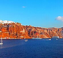 Santorini Cliffs by Tom Gomez