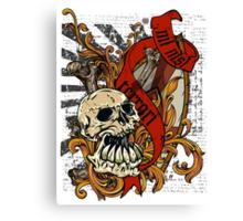 Skull Goth Rock 01 Canvas Print
