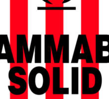 Flammable Solid Black Sticker