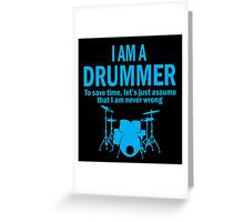 I'M A DRUMMER Greeting Card
