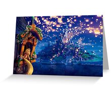 Floating lanterns Greeting Card