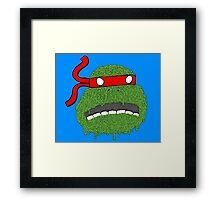 Melting teenage mutant ninja turtle Framed Print