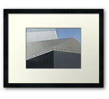 modern architecture detail Framed Print