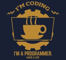 programmer : I'm coding. I am a programmer - Gold Kids Clothes
