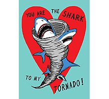 Shark To My Tornado Photographic Print
