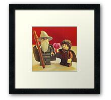 Frodo Loves Gandalf Framed Print